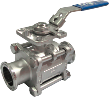 Sanitary 3 Piece 316 Stainless Steel Ball Valve #366FC-SVDM