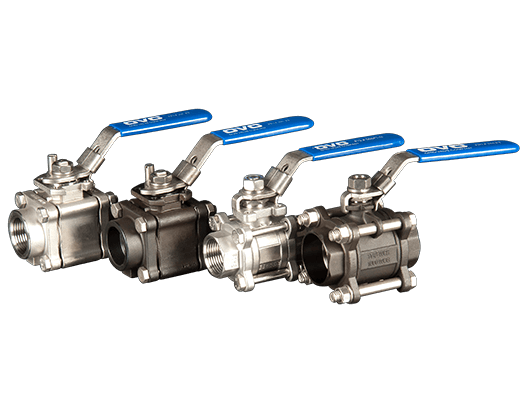 OVC 3 Piece Ball Valves